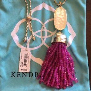 Kendra Scott Purple Jade Gold Monroe. NWT